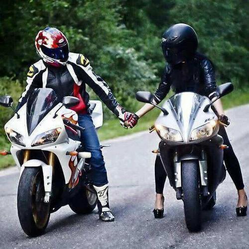 عکس پروفایل موتور سواری عاشقانه