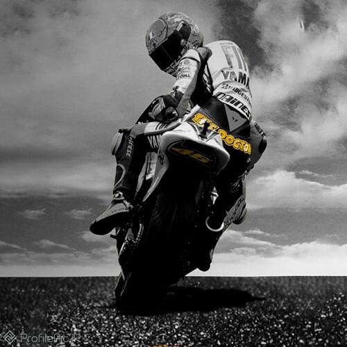 عکس پروفایل موتور سواری لاکچری