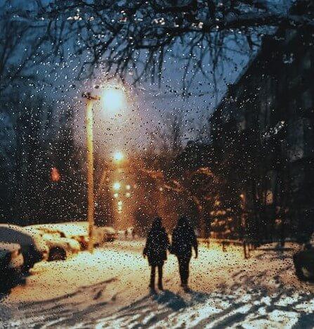 عکس پروفایل زمستانی دونفره