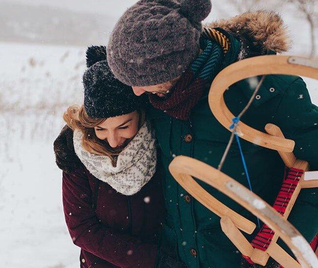 عکس پروفایل زمستانی دونفره عاشقانه