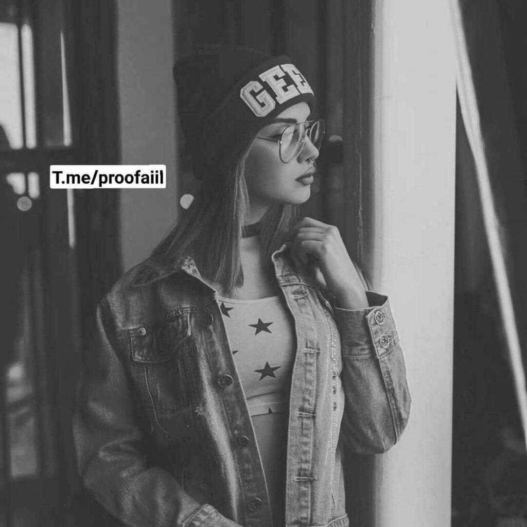 عکس پروفایل سیاه و سفید دختر