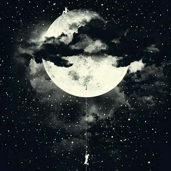 عکس پروفایل ماه در شب