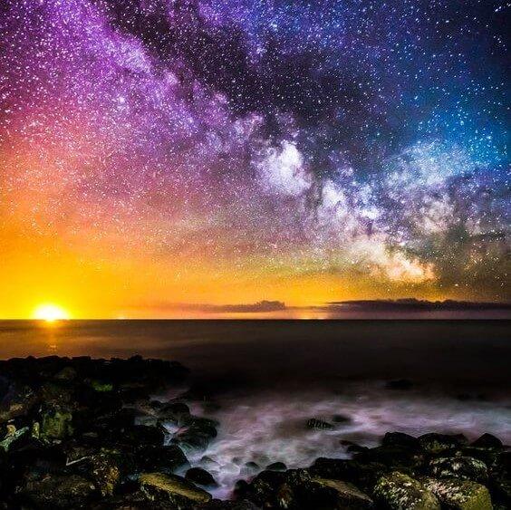 عکس آسمان ستاره ای برای پروفایل